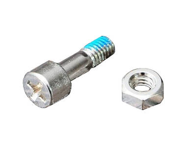 Болт и гайка для крепления контрлезвия для секаторов ARS CB-8, CB-9, CBR-8, CBR-9 (SP-221)