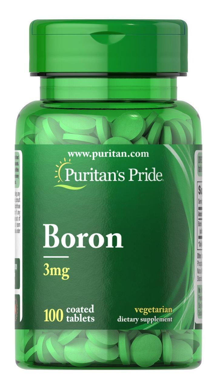 Puritan's Pride Boron, Бор 3 mg (100 таб.)