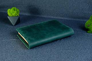 """Обкладинка з пеналом для щоденника формату А5 """"Модель №16"""", Вінтажна шкіра, колір Зелений, фото 2"""