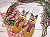🎄 Парные новогодние носки с оленями WANNABE SANTA 36-41 размер LEONORA