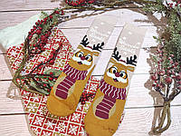 🎄 Парные новогодние носки с оленями WANNABE SANTA 36-41 размер LEONORA, фото 1