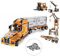 Конструктор Cada C71002W Автомобіль вантажівка з контейнером 634 деталі 6+