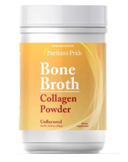 Puritan's pride Bone Broth, Коллаген в порошке, Collagen (450 гр.) Vanilla Flavor