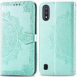 Кожаный чехол (книжка) Art Case с визитницей для Samsung Galaxy A01, фото 2
