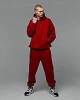 Теплый спортивный костюм оверсайз Пушка Огонь Scale красный