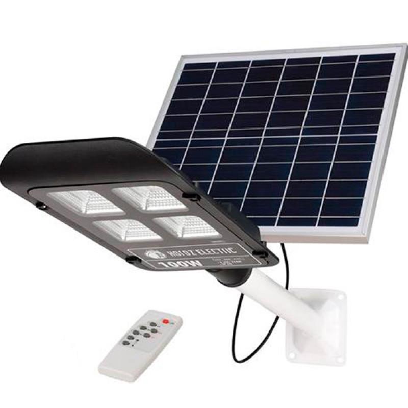 """100W 6400K  """"LAGUNA-100"""" консольный светильник с солнечной панелью Horoz Electric LED"""