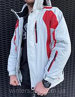ТОП КАЧЕСТВО! Мужская горнолыжная и для сноуборда Куртка Snow Headquarter Бело-красная, фото 1