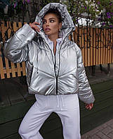 Шикарная зимняя перламутровая курточка, фото 1