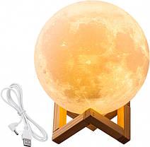 Настольный светильник ночник Луна 12 см Magic 3D Moon Light Touch Control, фото 2