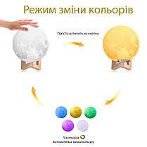 Настольный светильник ночник Луна 12 см Magic 3D Moon Light Touch Control, фото 3