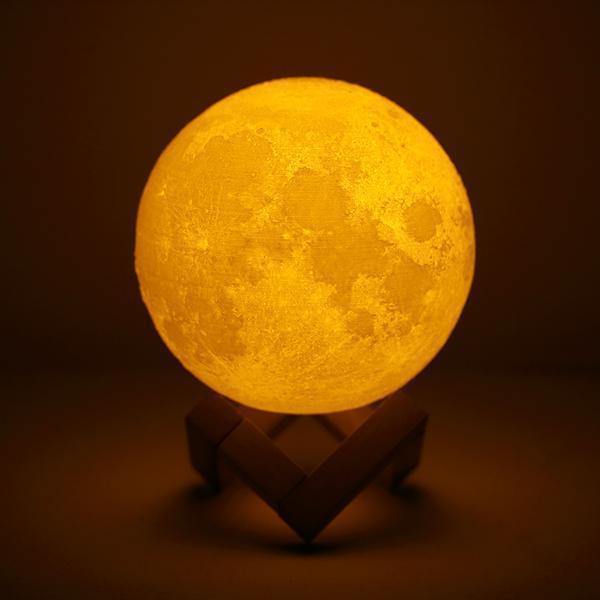 Настольный светильник ночник Луна 12 см Magic 3D Moon Light Touch Control