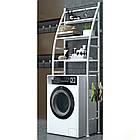 Полку стелаж підлогова над пральною машинкою, фото 2