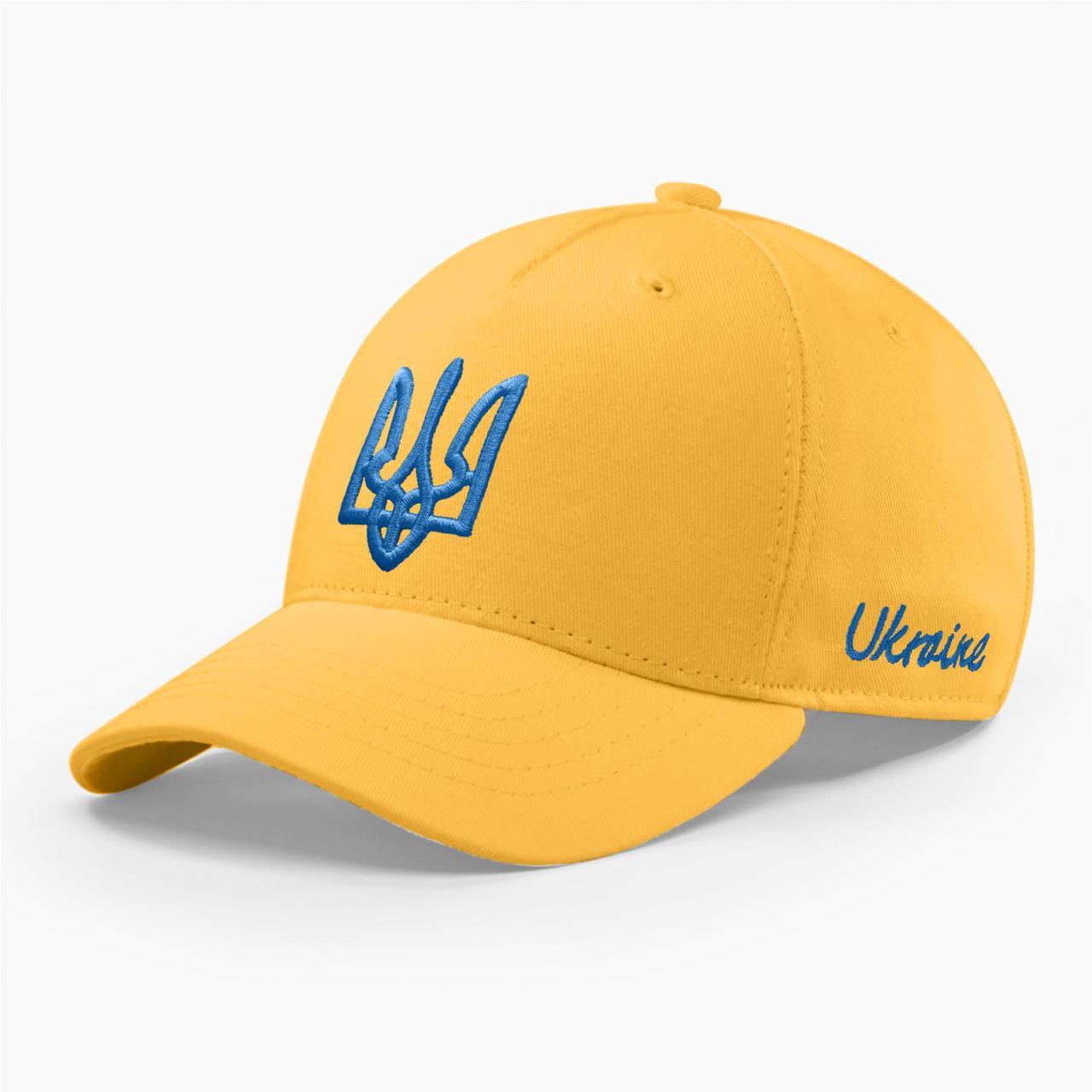 Детская кепка бейсболка INAL с гербом Украины XS / 51-52 RU Желтый 245851