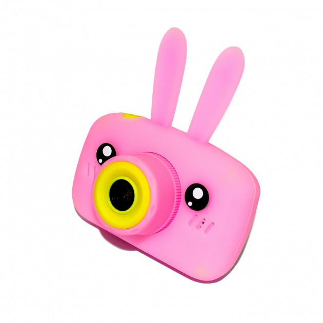 Детский цифровой фотоаппарат Розовый Зайчик Оригинал Children`s fun 20Мп Full HD 1080p (PP)