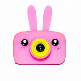 Детский цифровой фотоаппарат Розовый Зайчик Оригинал Children`s fun 20Мп Full HD 1080p (PP), фото 2