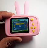 Детский цифровой фотоаппарат Розовый Зайчик Оригинал Children`s fun 20Мп Full HD 1080p (PP), фото 4