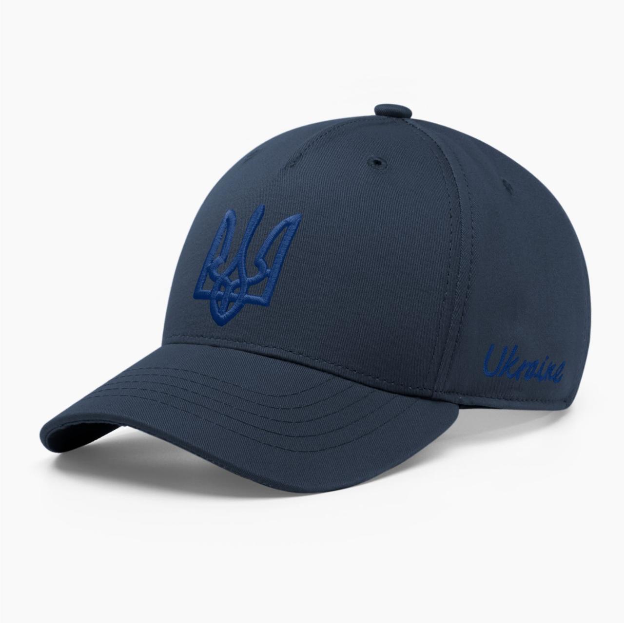 Детская кепка бейсболка INAL с гербом Украины XS / 51-52 RU Синий 243651