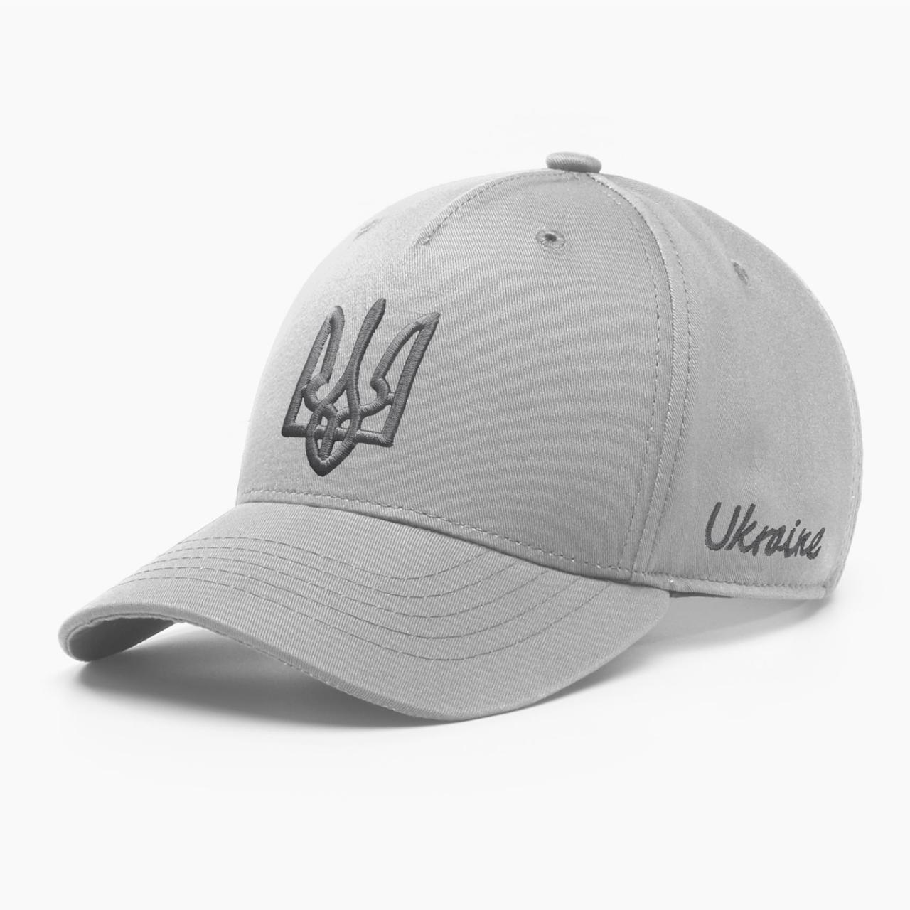 Дитяча кепка бейсболка INAL з гербом України XS / 51-52 RU Сірий 244351