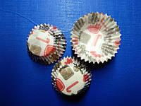 """Бумажные формы для кексов и конфет """"Имбирные пряники"""" h-2.5 см диаметр 2,8см 30 шт"""