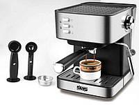 Кофеварка эспрессо DSP КА-3028 кофемашина для дома рожковая с капучинатором полуавтомат