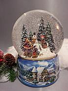 """Снежный музыкальный шар с автоснегом и подсветкой """"У костра"""", фото 2"""