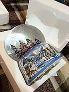 """Снежный музыкальный шар с автоснегом и подсветкой """"У костра"""", фото 3"""