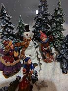 """Снежный музыкальный шар с автоснегом и подсветкой """"У костра"""", фото 4"""