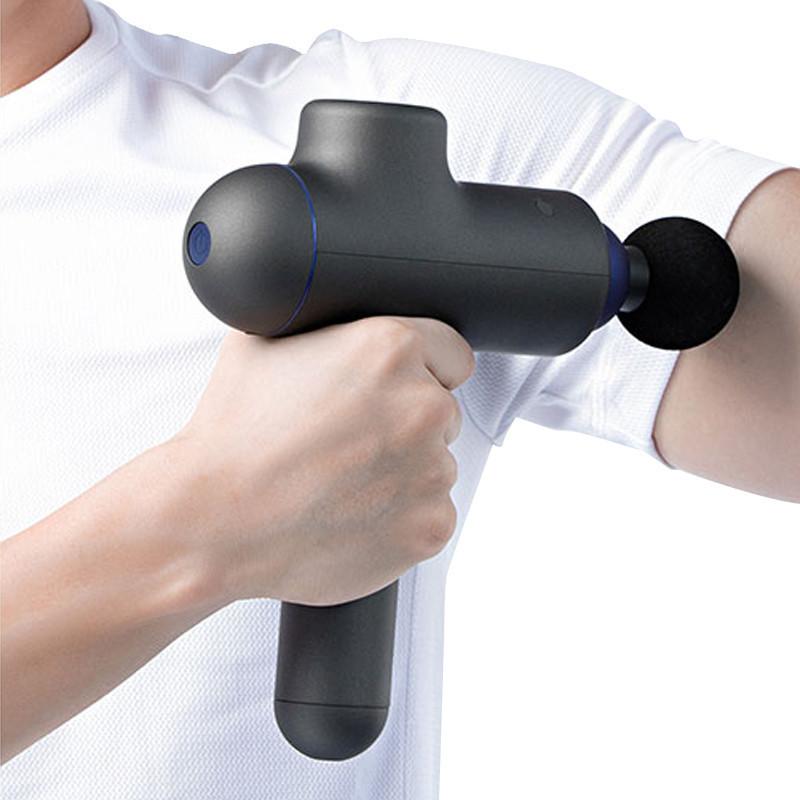 Массажный пистолет с тремя насадками Massage Gun массажер для всего тела