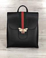 Сумка рюкзак женский «Барб» черного цвета