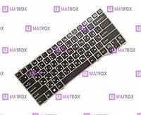 Оригинальная клавиатура для ноутбука Fujitsu-Siemens LifeBook T725, T726 series, ru, black, серая рамка