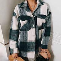 Женская теплая рубашка в клетку, фото 1
