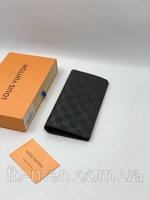 Кожаный кошелек Louis Vuitton мужской женский   Бумажник черный Луи Виттон   Портмоне Louis Vuitton для денег