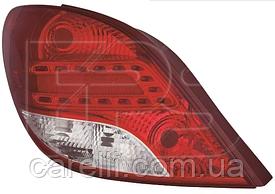 Фонарь задний правый LED 2009- для Peugeot 207 2006-12