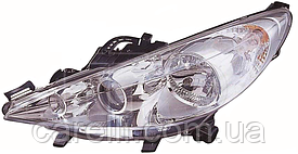 Фара левая электро Н7+Н7+Н1 (с п/тум) для Peugeot 207 2006-12