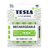 Аккумуляторы AA (HR6) Tesla Rechargeable 2400mAh 1,2V (4шт.)