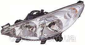 Фара правая электро Н7+Н1 для Peugeot 207 2006-12