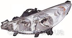 Фара левая электро Н7+Н1 для Peugeot 207 2006-12
