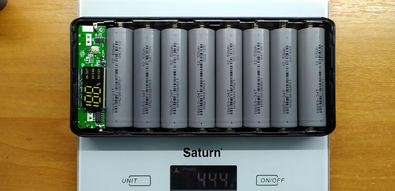 Готовый повербанк 8*18650 M8(PD) Type C QC2.0 QC3.0 PD2.0 PD3.0 BC1.2 FCP AFC SFCP MTK PE, powerbank 26400mAh