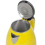 Електричний чайник Delfa DK-3510 X Жовтий, фото 2