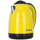 Електричний чайник Delfa DK-3510 X Жовтий, фото 3