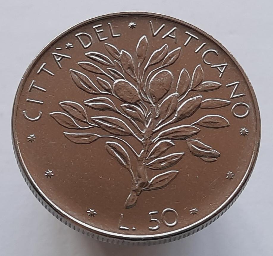 Ватикан 50 лир 1971