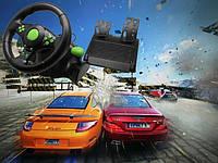 Игровой руль с педалями 3в1 USB для PS3/PS2/PC Vibration