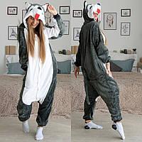 БЕЗ ПРЕДОПЛАТ Кигуруми Хаски костюм пижама кенгуру. Всегда в наличии!