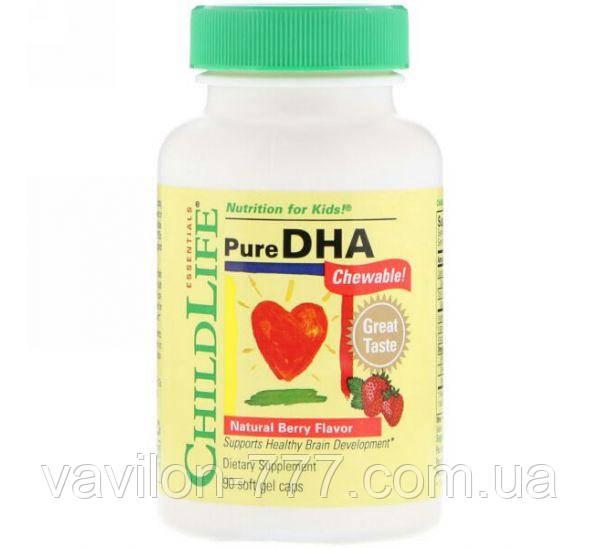 ChildLife, Чистая ДГК, вкус натуральных ягод, 90 мягких таблеток