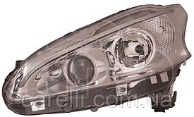 Фара левая электро Н7+Н7 (LED+линза) -2015 для Peugeot 208 2012-19