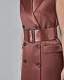 Платье-пиджак двубортное с поясом без рукавов Setre, фото 3