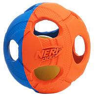 Игрушка для собак Nerf Мяч светящийся d=9 см
