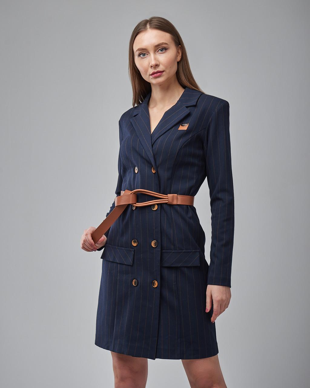 Платье-пиджак мини с ремнем. Турция