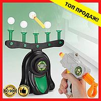 """Детская игра Воздушный тир пистолет с дротиками и летающие мишени Hover Shot, """"Стрелялки"""" с бластером"""