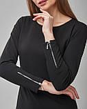 Черное трикотажное платье свободного кроя. Турция, фото 3